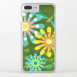 In The Garden Among The Flowers Clear iPhone Case