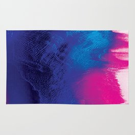 Electric Tides - Abstract Glitch Art Rug