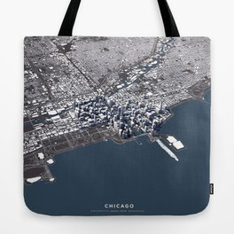 Chicago II - city map Tote Bag