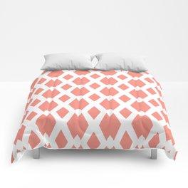 Daffy Lattice Light Coral Comforters