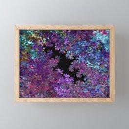 Flora-Purple Framed Mini Art Print