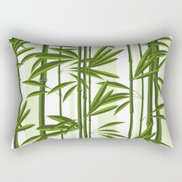 Green bamboo tree shoots pattern Rectangular Pillow