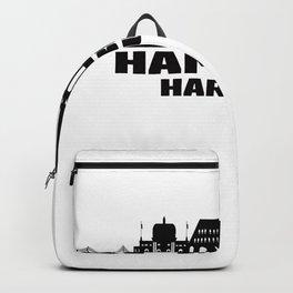 Hamburg Harburg Germany Skyline Backpack