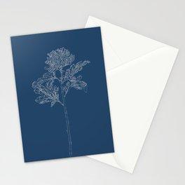 Chrysanthemum Blueprint Stationery Cards