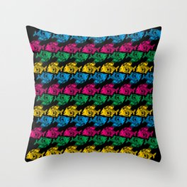 So many Piranhas are waiting for you Throw Pillow