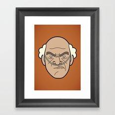 Faces of Breaking Bad: Hector Salamanca Framed Art Print