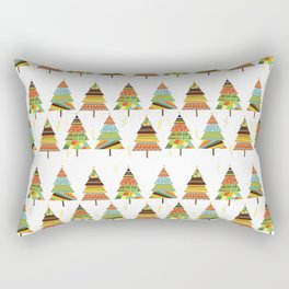 Abstract pine tree forest seamless pattern background Rectangular Pillow