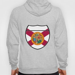 Florida Flag In An Interstate Sign Hoody