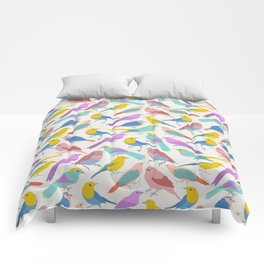 Dazzling Colored Bird Pattern Comforters