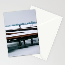 Wooden pier Palic Stationery Cards