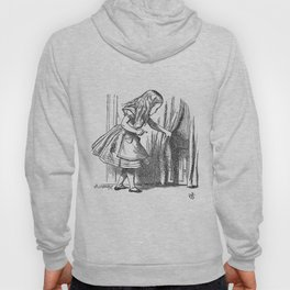 Vintage Alice in Wonderland 'looking for the door' antique book drawing emo goth fantasy gothic Hoody