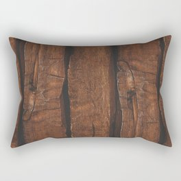 Rustic brown old wood Rectangular Pillow