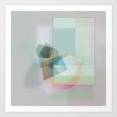 Turquoise geometry Art Print