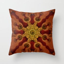 """Vintage Antique Starfish Haeckel Mandala"" Throw Pillow"