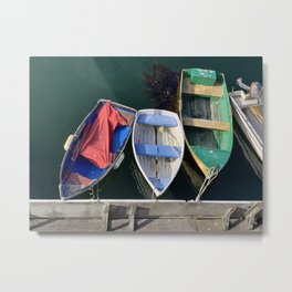 Colorful Row Boats in Monterey Bay Metal Print