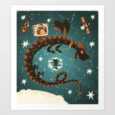 Space Dragon Art Print