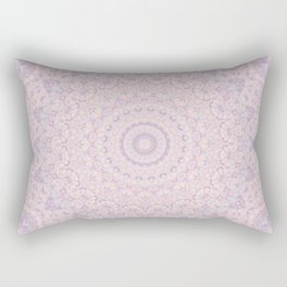 Pastel Lilac and Pink Mosaic Rectangular Pillow