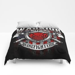 Warrior Within Firefighter - Fire Department Axe Comforters