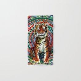 Tiger Watercolor Yoga Mandala Hand & Bath Towel