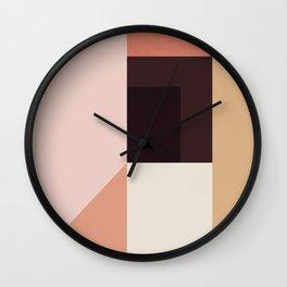Abstraction_Colorblocks_001 Wall Clock