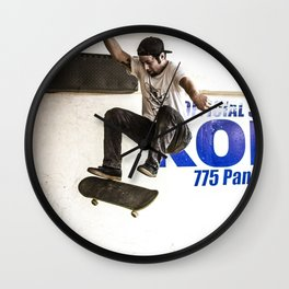 riding the half pipe Wall Clock