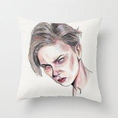 River P Throw Pillow