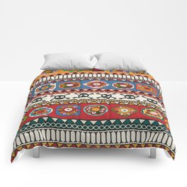 Aztec background Comforters