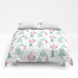 Christmas white pattern Comforters