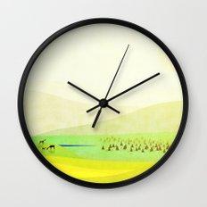 Minimal Meadow Redux Wall Clock