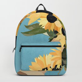 Hand Holding Sunflowers 2 Backpack