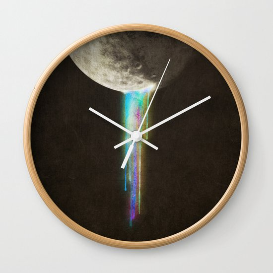 Color Bleed Wall Clock