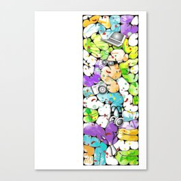 the pieces of the future Canvas Print