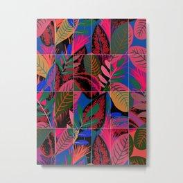 Tropical Neon Tiles Metal Print