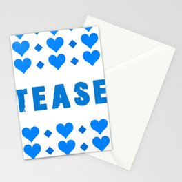 Tease - blue Stationery Cards