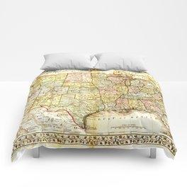 1867 USA Map Comforters