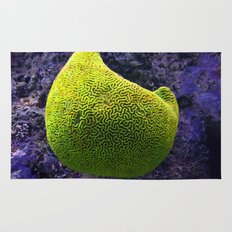 Lime green sea creature Rug