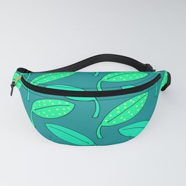 Happy Leaves in Blue. Fanny Pack