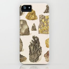 Vintage Gold Minerals iPhone Case
