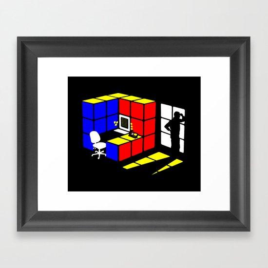 Rubix Cubicle Framed Art Print