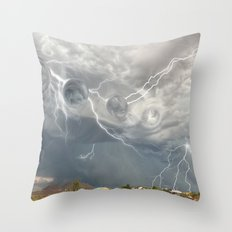 Arrival of the Monsoon Storm Generator Throw Pillow