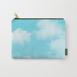Aqua Blue Clouds Carry-All Pouch
