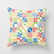 Abstract Squares Primary Throw Pillow