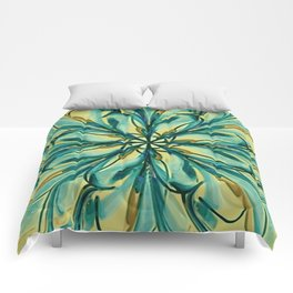 Swirly Flower Abstract 07 Comforters