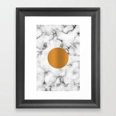 Marble & gold Framed Art Print