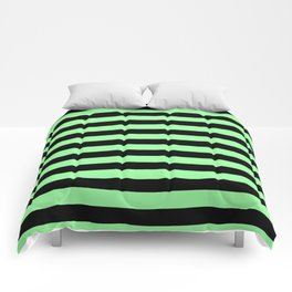 Chrysoprase and Black Stripes Comforters