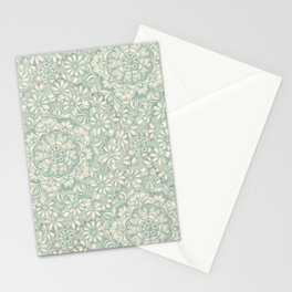 Sage Medallion with Butterflies & Daisy Chains Stationery Cards