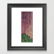 pink owl Framed Art Print