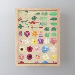 Rainbow Floral Pattern Framed Mini Art Print
