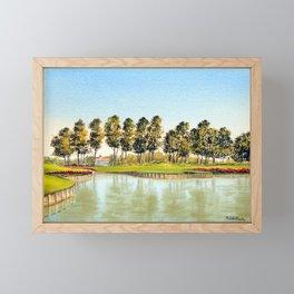 Sawgrass TPC Golf Course 17th Hole Framed Mini Art Print