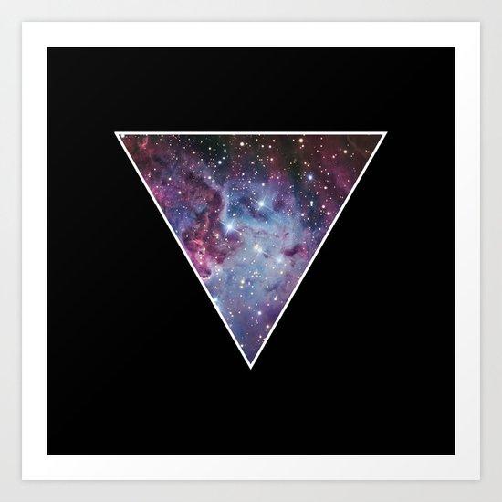 Galaxy Space Triangle  Art Print